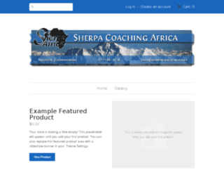 sherpa-coaching-africa.myshopify.com screenshot