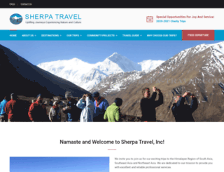 sherpa-travel.com screenshot