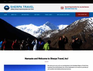 sherpa-travel.com screenshot