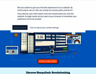 sherpadesk.com screenshot