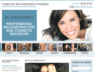 sherriworthdentistry.com screenshot