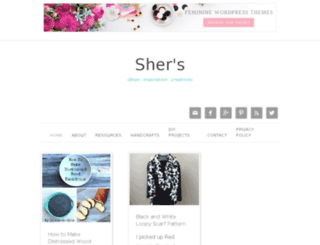 shersyarnandthreadart.com screenshot