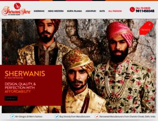 sherwanistore.com screenshot