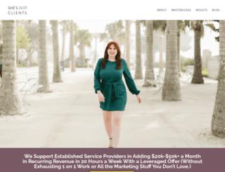 shesgotclients.com screenshot