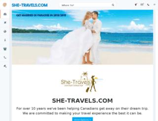 shetravels.centreholidays.com screenshot
