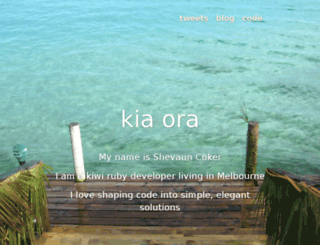 shevaun.kiwi screenshot