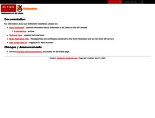 shib.ncsu.edu screenshot