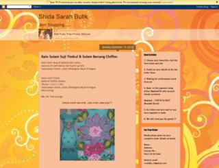 shidasarahbutik.blogspot.com screenshot