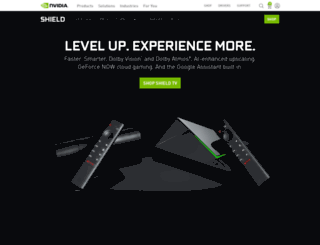 shield.nvidia.com screenshot