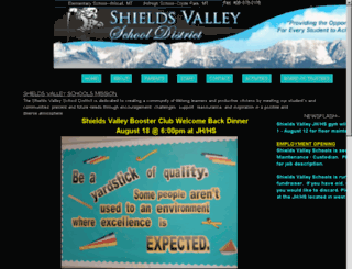 shieldsvalleyschools.org screenshot