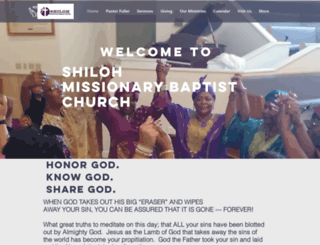 shilohbaptistmontgomery.org screenshot