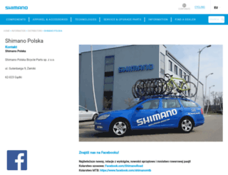 shimano-polska.com screenshot