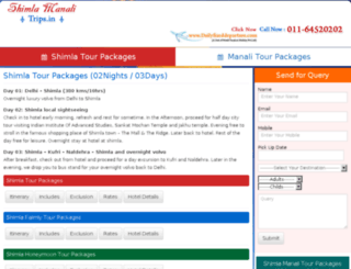 shimlamanalitrips.in screenshot