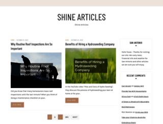 shinearticles.com screenshot