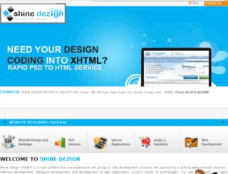 shinedezigninfotech.com screenshot