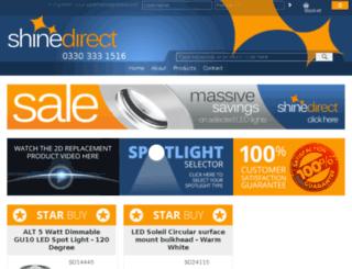 shinedirect.co.uk screenshot