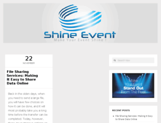 shineevent.com screenshot