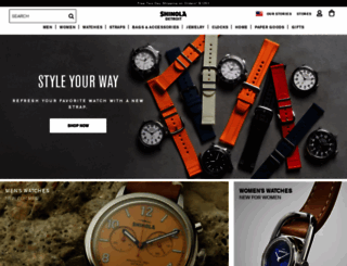 shinola.com screenshot