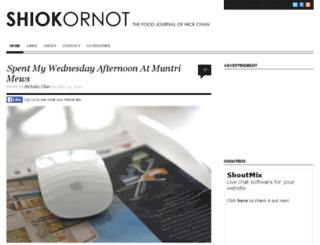 shiokornot.com screenshot
