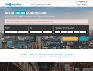 ship2anywhere.com.au screenshot