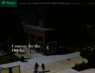 shipleyschool.org screenshot