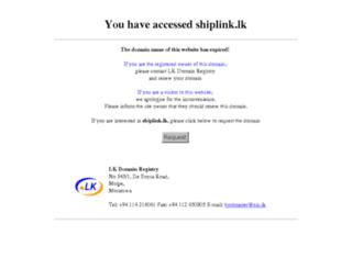 shiplink.lk screenshot