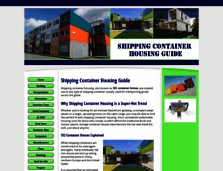 shipping-container-housing.com screenshot