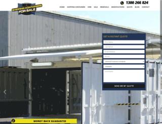 shippingcontainersforsale.com.au screenshot