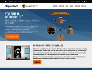 shipsurance.com screenshot
