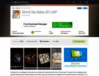shirdi-sai-baba-3d-lwp.android.informer.com screenshot