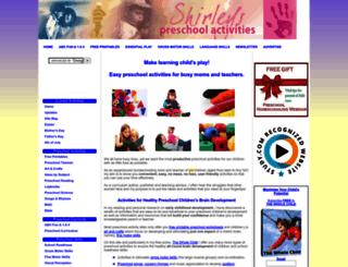 shirleys-preschool-activities.com screenshot