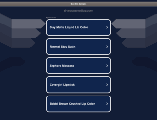 shirocosmetics.com screenshot