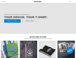 shirt-druck.shirtinator.net screenshot