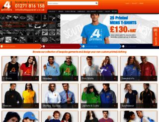 shirt-printers.co.uk screenshot