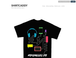 shirtcaddy.com screenshot