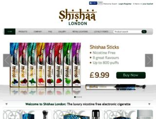 shishaa.co.uk screenshot