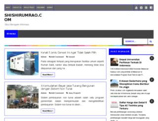 shishirumrao.com screenshot