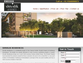 shivalikresidences.co.in screenshot