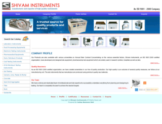 shivamlabinstruments.com screenshot