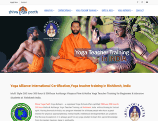 shivayogapeeth.com screenshot