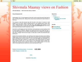 shivmalamaanayviewsonfashion.blogspot.in screenshot