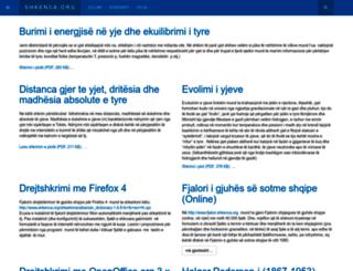 shkenca.org screenshot