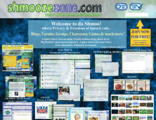 shmoozezone.com screenshot