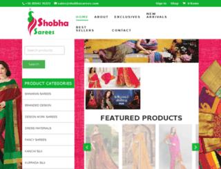 shobhasarees.com screenshot