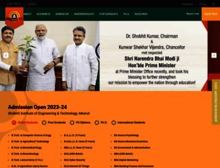 shobhituniversity.ac.in screenshot