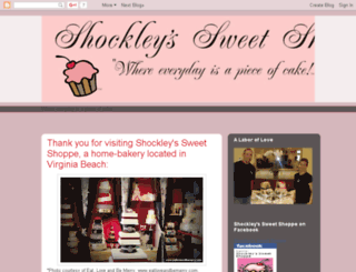 shockleyssweetshoppe.blogspot.com screenshot