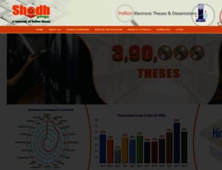 shodhganga.inflibnet.ac.in screenshot