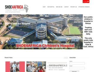 shoe4africa.org screenshot