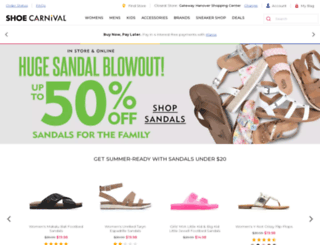 shoecarnival.com screenshot