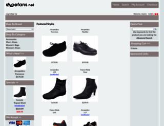 shoefans.net screenshot